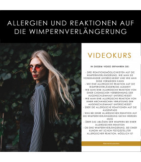 """Videokurs """"Allergien und Reaktionen auf die Wimpernverlängerung""""  Videokurs -60%"""