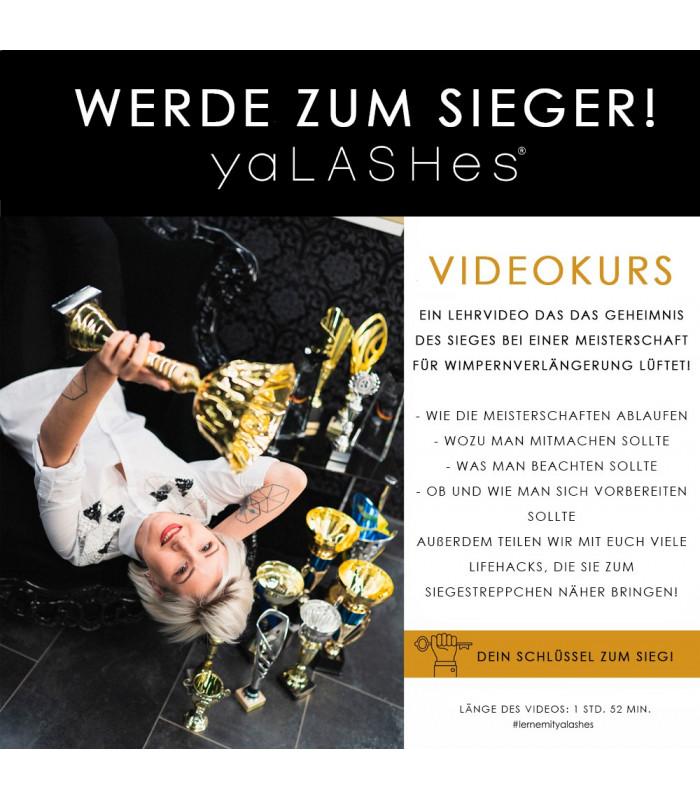 """Videokurs """"Werde zum Sieger! - Meisterschaften für Wimpernverlängerung"""""""