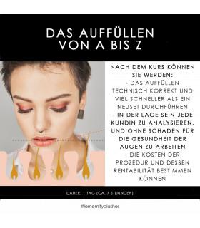 """Weiterbildung """"Das Auffüllen von A bis Z""""  Schulungen SCH109"""