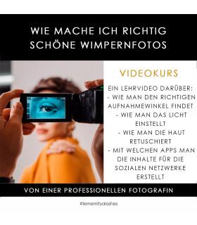 """Онлайн-Курсы Videokurs """"Wie mache ich richtig schöne Wimpernfotos"""""""