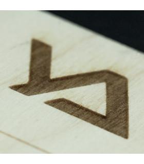 Zubehör Wimpernplatte aus Holz