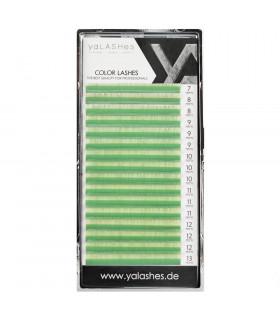 Ресницы Ресницы yaLASHes зеленые пастель Mix
