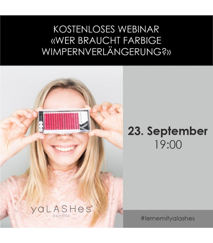 "Online-Kurse Kostenloses Webinar ""Wer braucht farbige Wimpernverlängerung?"""