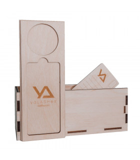 Zubehör LashBox aus Holz + 5 Wimpernplatten