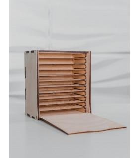 Zubehör LashBox aus Holz + 10 Wimpernplatten